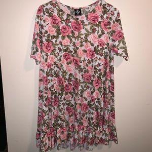 Agnes & Dora Rose Print Dress.